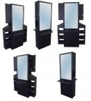 Salon Stations - Mirror Stations - Cabinets